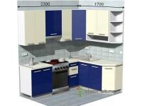 """2300-1700-2-svv<br>Для расчета цены подобной кухни укажите код этой кухни в заявке в графе """"Доп. информация"""" <a class=""""kuhni-foto-link"""" title=""""Расчет кухни онлайн"""" href=""""http://dobrotno.com.ua/zakazat-dizayn-kuhni"""" target=""""_blank""""> Рассчитать кухню</a>"""
