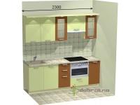 """2300-600-1-svv<br>Для расчета цены подобной кухни укажите код этой кухни в заявке в графе """"Доп. информация"""" <a class=""""kuhni-foto-link"""" title=""""Расчет кухни онлайн"""" href=""""http://dobrotno.com.ua/zakazat-dizayn-kuhni"""" target=""""_blank""""> Рассчитать кухню</a>"""