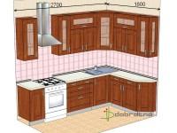 """2700-1800-2-svv<br>Для расчета цены подобной кухни укажите код этой кухни в заявке в графе """"Доп. информация"""" <a class=""""kuhni-foto-link"""" title=""""Расчет кухни онлайн"""" href=""""http://dobrotno.com.ua/zakazat-dizayn-kuhni"""" target=""""_blank""""> Рассчитать кухню</a>"""