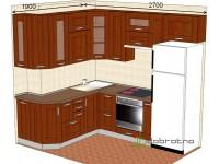 """2700-1900-2-svv<br>Для расчета цены подобной кухни укажите код этой кухни в заявке в графе """"Доп. информация"""" <a class=""""kuhni-foto-link"""" title=""""Расчет кухни онлайн"""" href=""""http://dobrotno.com.ua/zakazat-dizayn-kuhni"""" target=""""_blank""""> Рассчитать кухню</a>"""