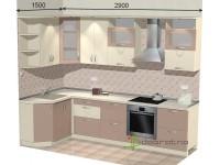"""2900-1500-1-svv<br>Для расчета цены подобной кухни укажите код этой кухни в заявке в графе """"Доп. информация"""" <a class=""""kuhni-foto-link"""" title=""""Расчет кухни онлайн"""" href=""""http://dobrotno.com.ua/zakazat-dizayn-kuhni"""" target=""""_blank""""> Рассчитать кухню</a>"""