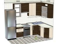 """2900-1700-1-svv<br>Для расчета цены подобной кухни укажите код этой кухни в заявке в графе """"Доп. информация"""" <a class=""""kuhni-foto-link"""" title=""""Расчет кухни онлайн"""" href=""""http://dobrotno.com.ua/zakazat-dizayn-kuhni"""" target=""""_blank""""> Рассчитать кухню</a>"""