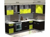 """3000-1400-2-svv<br>Для расчета цены подобной кухни укажите код этой кухни в заявке в графе """"Доп. информация"""" <a class=""""kuhni-foto-link"""" title=""""Расчет кухни онлайн"""" href=""""http://dobrotno.com.ua/zakazat-dizayn-kuhni"""" target=""""_blank""""> Рассчитать кухню</a>"""