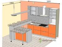 """3000-2400-1-svv<br>Для расчета цены подобной кухни укажите код этой кухни в заявке в графе """"Доп. информация"""" <a class=""""kuhni-foto-link"""" title=""""Расчет кухни онлайн"""" href=""""http://dobrotno.com.ua/zakazat-dizayn-kuhni"""" target=""""_blank""""> Рассчитать кухню</a>"""