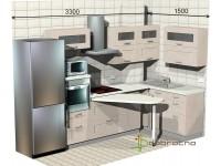 """3300-1500-2-svv<br>Для расчета цены подобной кухни укажите код этой кухни в заявке в графе """"Доп. информация"""" <a class=""""kuhni-foto-link"""" title=""""Расчет кухни онлайн"""" href=""""http://dobrotno.com.ua/zakazat-dizayn-kuhni"""" target=""""_blank""""> Рассчитать кухню</a>"""