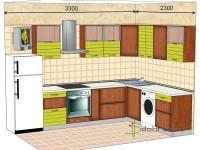 """3300-2300-2-svv<br>Для расчета цены подобной кухни укажите код этой кухни в заявке в графе """"Доп. информация"""" <a class=""""kuhni-foto-link"""" title=""""Расчет кухни онлайн"""" href=""""http://dobrotno.com.ua/zakazat-dizayn-kuhni"""" target=""""_blank""""> Рассчитать кухню</a>"""
