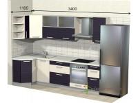 """3400-1100-1-svv<br>Для расчета цены подобной кухни укажите код этой кухни в заявке в графе """"Доп. информация"""" <a class=""""kuhni-foto-link"""" title=""""Расчет кухни онлайн"""" href=""""http://dobrotno.com.ua/zakazat-dizayn-kuhni"""" target=""""_blank""""> Рассчитать кухню</a>"""