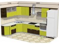 """3800-2100-1-svv<br>Для расчета цены подобной кухни укажите код этой кухни в заявке в графе """"Доп. информация"""" <a class=""""kuhni-foto-link"""" title=""""Расчет кухни онлайн"""" href=""""http://dobrotno.com.ua/zakazat-dizayn-kuhni"""" target=""""_blank""""> Рассчитать кухню</a>"""