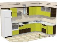 """3800-2100-2-svv<br>Для расчета цены подобной кухни укажите код этой кухни в заявке в графе """"Доп. информация"""" <a class=""""kuhni-foto-link"""" title=""""Расчет кухни онлайн"""" href=""""http://dobrotno.com.ua/zakazat-dizayn-kuhni"""" target=""""_blank""""> Рассчитать кухню</a>"""