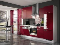 Кухня модерн с фасадами постформинг из пластика HPL