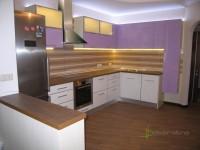 Кухня на заказ с фасадами из МДФ с пластиком HPL а алюминиевой рамке