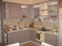 Кухня на заказ с рамочными фасадами из МДФ с краской (полумат) молочно-кофейного цвета