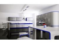 Ультра-модерновая кухня с барной стойкой