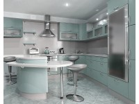 Угловая кухня-студия: зонирование