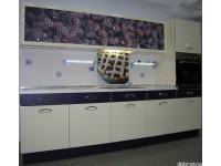 """Кухня - kit_0092 - Кухня """"Ежевика"""" с применением фотопечати на фасадах. Под вытяжкой - декоративная панель из стекла с фотопечатью.<br>Для расчета цены подобной кухни укажите код этой кухни в заявке в графе """"Доп. информация"""" <a class=""""kuhni-foto-link"""" title=""""Расчет кухни онлайн"""" href=""""http://dobrotno.com.ua/zakazat-dizayn-kuhni"""" target=""""_blank""""> Рассчитать кухню</a>"""