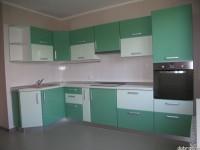 """Кухня - kit_0124 - Угловая кухня с фасадами из МДФ, покрытой пластиком HPL по технологии постформинг. Сочетание двух зеленых тонов придает кухне свежесть. Столешница из водостойкой ДСП, покрытой глянцевым пластиком Arpa. Размер 3200х1500.<br>Для расчета цены подобной кухни укажите код этой кухни в заявке в графе """"Доп. информация"""" <a class=""""kuhni-foto-link"""" title=""""Расчет кухни онлайн"""" href=""""http://dobrotno.com.ua/zakazat-dizayn-kuhni"""" target=""""_blank""""> Рассчитать кухню</a>"""