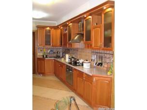 Кухня с фасадами из дерева (ольха) kder-0015