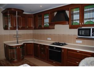 Кухня с фасадами из дерева kder-1074