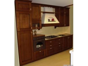 Кухня с фасадами из дерева kder-1172