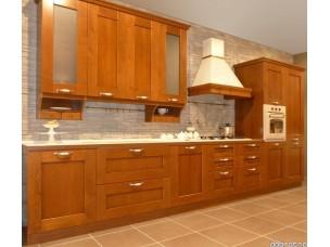 Кухня с фасадами из дерева kder-1216-1