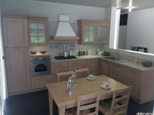Кухня с фасадами из дерева kder-1354