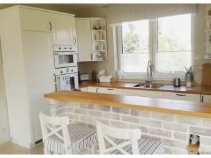 Кухня с фасадами из дерева kder-1432-1