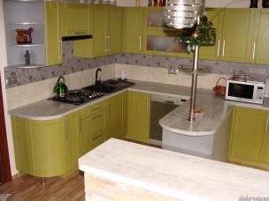 Кухня с фасадами из дерева kder-1451-1