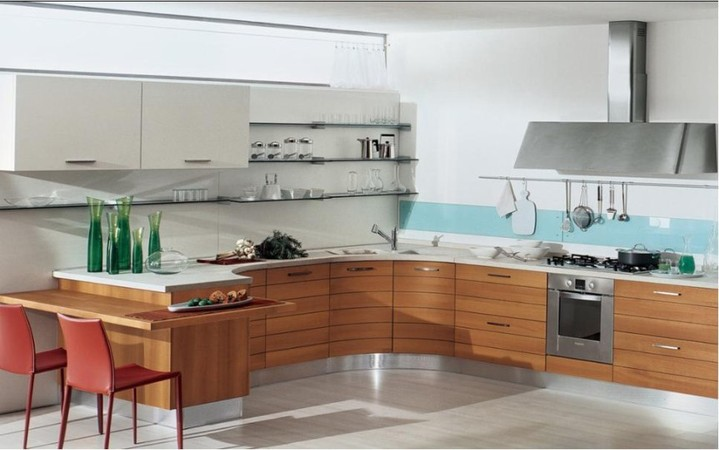 Открытая планировка кухни 3