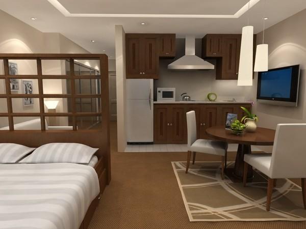 Пример 3Д-дизайна кухни студии