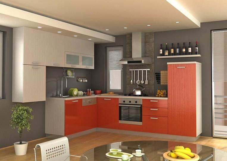 Дизайн угловой кухни-студии