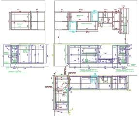 чертеж кухни с размерами для переноса в Вияр конструктор