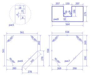 чертежи деталей кухни для размещения заказа в Вияр конструкторе